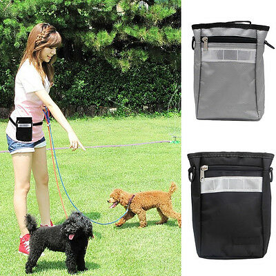 Puppy Pet Dog Snack Obedience Agility Bait Training Food Treat Pouch Bag Holder