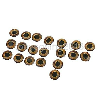 20 Piece Fish Eyes Holographic Lure Eyes for FlyTying Jigs Crafts Dolls 15mm