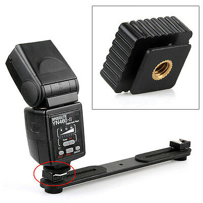 1/4 Screw Hole Cold Foot Hot Shoe Mount Flash Adapter For Studio Light Stand