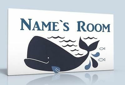 Personalised Door Sign / Name Plaque Whale Bay New Free P&P