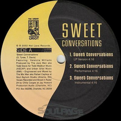 "Sweet Conversations - Sweet Conversations / Born Black - 12"" US NM/NM"