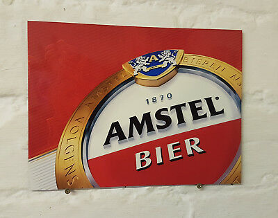 amstel Larger Retro metal Aluminium Sign vintage bar pub man cave beer signs den