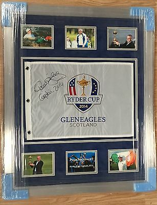 Ryder Cup Gleneagles 2014 Flag Signed By Paul McGinley Winning Captain