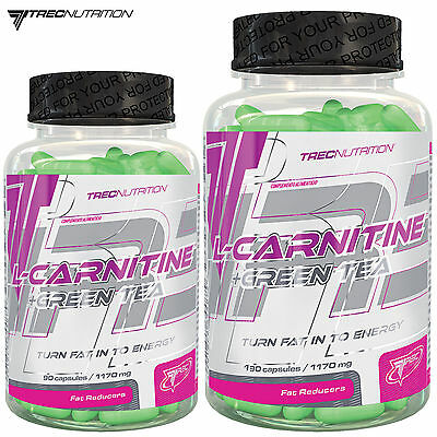 L-Carnitine & Green Tea 90/180 Caps. Turn Fat Into Energy Weight Loss Fat Burner