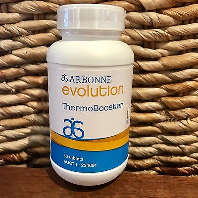 Arbonne EVOLUTION THERMOBOOSTER 60 Tablets Diet Weightloss RRP$80 FRESH Vegan