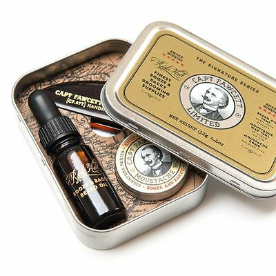 Captain Fawcett Ricki Hall's Booze & Baccy Beard Moustache Grooming Survival Kit