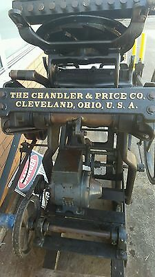 printing equipment 1895 Chandler and Price letterpress machine in working order