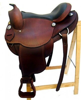 "Western Saddle ""AUSTIN"" buffalo leather high quality New"