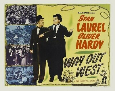Laurel and Hardy Way Out West Film Movie Cinema Poster Art Print Picture A4