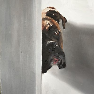 Boxer Dog Art Print 8 x 10 inch from Original Oil Painting by JCoates - signed
