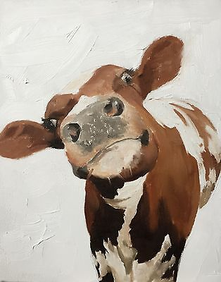 Cow Art Print 8 x 10 inches from Original Oil Painting by James Coates - signed