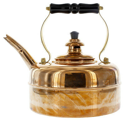 Simplex | Finish Solid English COPPER Whistling Tea Kettle | ELECTRIC STOVES