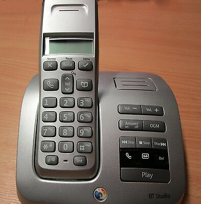 BT Studio 3500 Single DECT Cordless Telephone and Answering Machine Caller ID
