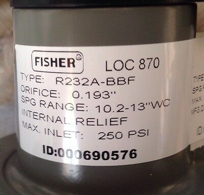 Fisher Propane Integral Two Stage Regulator R232A-BBF w/ POL Tank Fitting