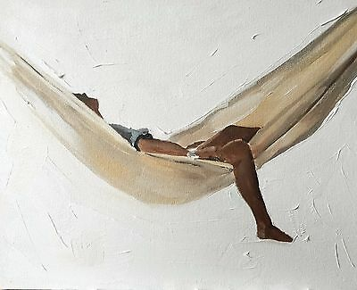 Woman in Hammock Art Print  from Original Painting by J Coates - Signed