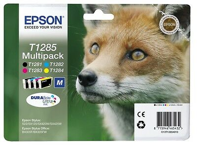 Epson T1285 MULTIPACK Ink Cartriges - NEW, Original Genuine *FASTEST UK DELIVERY