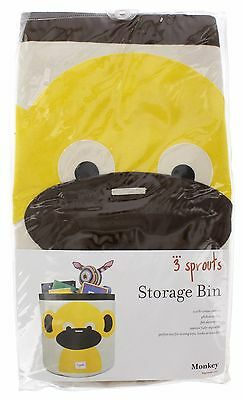 NEW | 3 Sprouts - Monkey Storage Bin - Infant Nursery Toddler | FREE SHIPPING