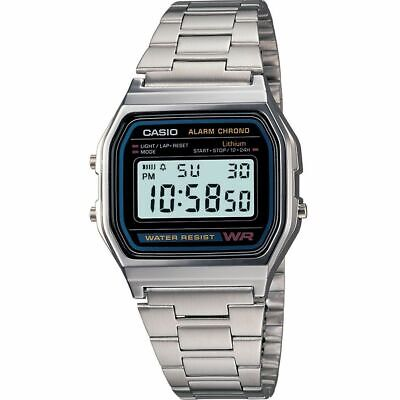 CASIO Men's Watch Micro Light Alarm watch  A158WA-1DF 12 MONTHS WARRANTY