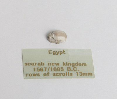 Ancient Egyptian Steatite Stone Scarab Ca. 1500-30 B.C.