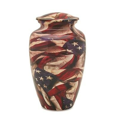 Vintage Old Glory Adult Cremation Urn