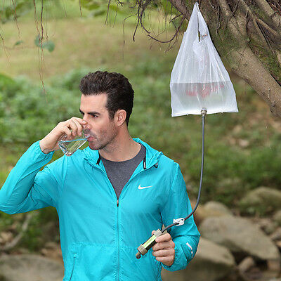 Water Filter System with 2000 Liters Filtration Capacity Sport Camping Emergency