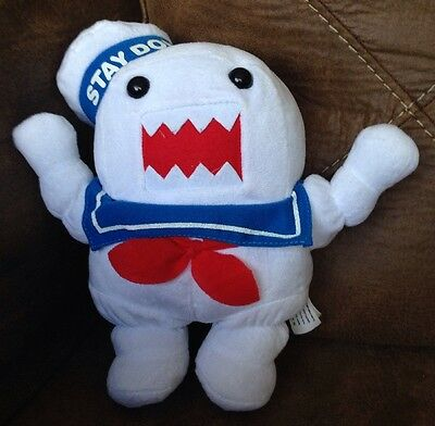 "GHOSTBUSTERS DOMO STAY-PUFT MARSHMALLOW MAN  Plush 11"" Toy #Q142"