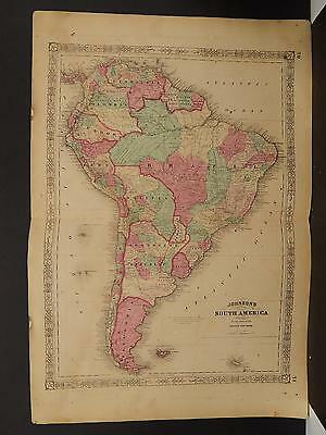 Johnson's Maps, 1864, South America O3#93