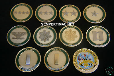 2nd LIEUTENANT FIRST LT US ARMY USA CHALLENGE COIN O-1 ONE (1) LT COIN GIFT