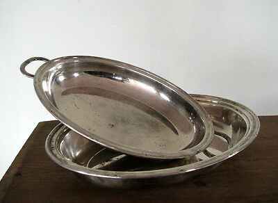 VTG Swedish N.S Alpacca German Silver Plated Plate Tray Sweden Antique Alpaca