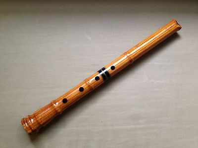 AUTHENTIC 1.6  JAPANESE LATHED BAMBOO SHAKUHACHI FLUTE FINE-TUNED by PERRY YUNG