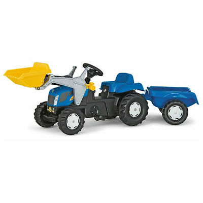 ROLLY TOYS Pedal 2yrs+ RIDE ON NEW HOLLAND TRACTOR WITH LOADER AND TRAILER 2y