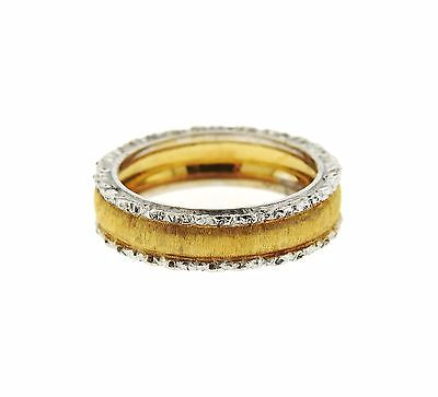 Buccellati 18k Two Color Gold Wedding Band Ring