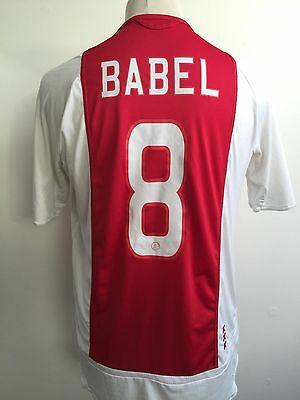 AJAX AMSTERDAM 2005-2006 Home Football Shirt ADIDAS Size Medium #8 BABEL