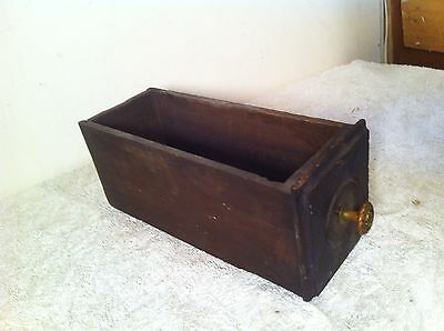 Vintage   Industrial Wood Drawer Parts Bin Shelf letter box with brass pull