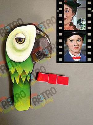 Mary Poppins Umbrella Parrot Head Handle Red Bow Tie Halloween Costume Cosplay