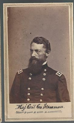 Civil War CDV Union General George Stoneman