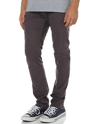 New Rusty Men's Flipside Mens Chino Pant Cotton Fitted Spandex Grey