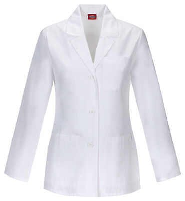 "Dickies 28"" Lab Coat 84401 DWHZ White Free Shipping"