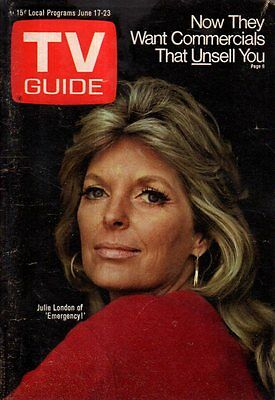 1972 TV Guide June 17 - Julie London; Marty Feldman; Julia Child; Melba Moore