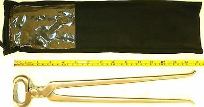 """Premium Hoof Nipper, Large 15"""", Hand Crafted, Stainless Steel, Farrier Horse"""