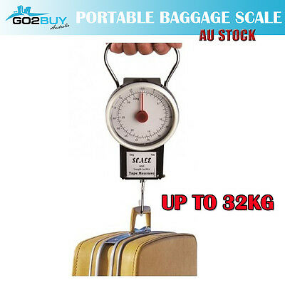32KG Portable Travel Baggage Luggage Scale With Tape Measure
