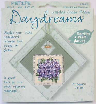 New Daydreams Counted Cross Stitch Embroidery Kit Hydrangea Blossom