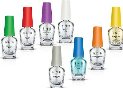 SNS Nail Gel Base,Gel Top, Gelous Base, Sealer Dry,E.A.Bond,Brush saver 0.5/15ML