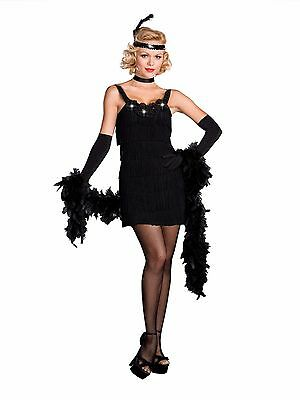 All That Jazz Black Flapper Costume for Women size XL New by Dreamgirl 6457