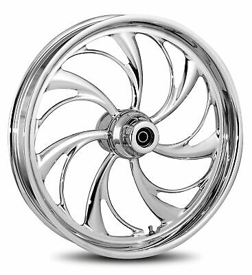 """RC Components Chrome Helix 18"""" Front Wheel & Tire Harley 00-06 FL Softail"""