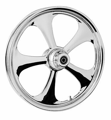 """RC Components Chrome Nitro 16"""" Front Wheel & Tire Harley 00-06 FL Softail"""