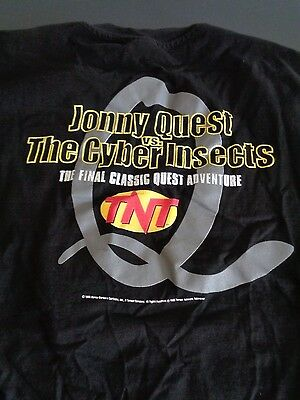 JOHNNY QUEST vs. The Cyber Insects 1995 Vintage Promo TNT Shirt XL Free Shipping