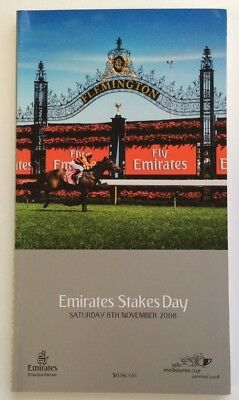 2008 Emirates Stakes Day Official Race Book - Theseo - Horse Racing