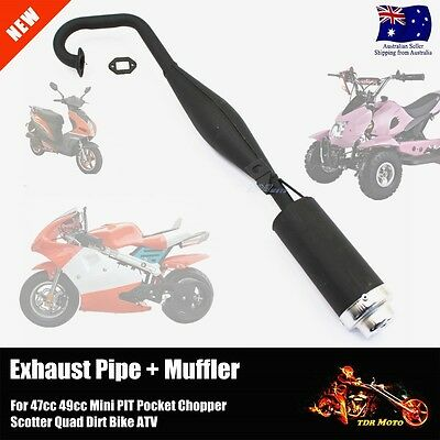 Performance Exhaust Muffler Pocket Bike 2 Stroke X1 X2 Mta1 Mta2 Cag 47Cc 49Cc