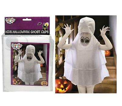 Kids Halloween GHOST White Cape New One Size Costume Party Dress Up